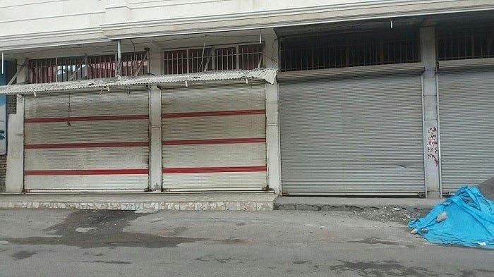 اعتصاب مغازه های فروش لوازم خانگی بازار در سه راه امین حضور در تهران