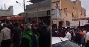 تظاهرات گسترده کارگران نیشکر هفت تپه در خیابانهای شوش