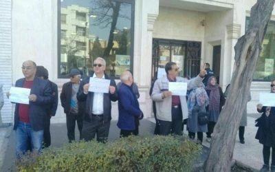 تجمع غارت شدگان موسسه کاسپین در مشهد و رشت
