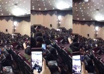 سخنرانی اعتراضی شدید یکی از دانشجویان در دانشگاه تبریز و استقبال دانشجویان