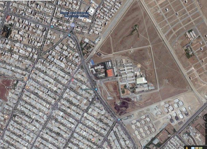 عکس هوایی زندان رجایی شهر کرج
