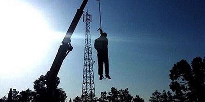 اعدام یک زندانی در ملاعام در کازرون