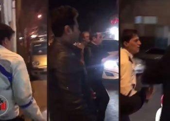 برخورد خشمگینانه مردم با پلیس در مشهد هنگام جریمه خودروها