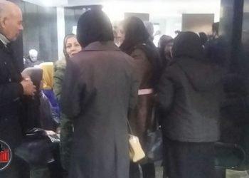 گزارش تصویری از تجمع فرهنگیان مقابل سازمان بازنشستگی در تهران