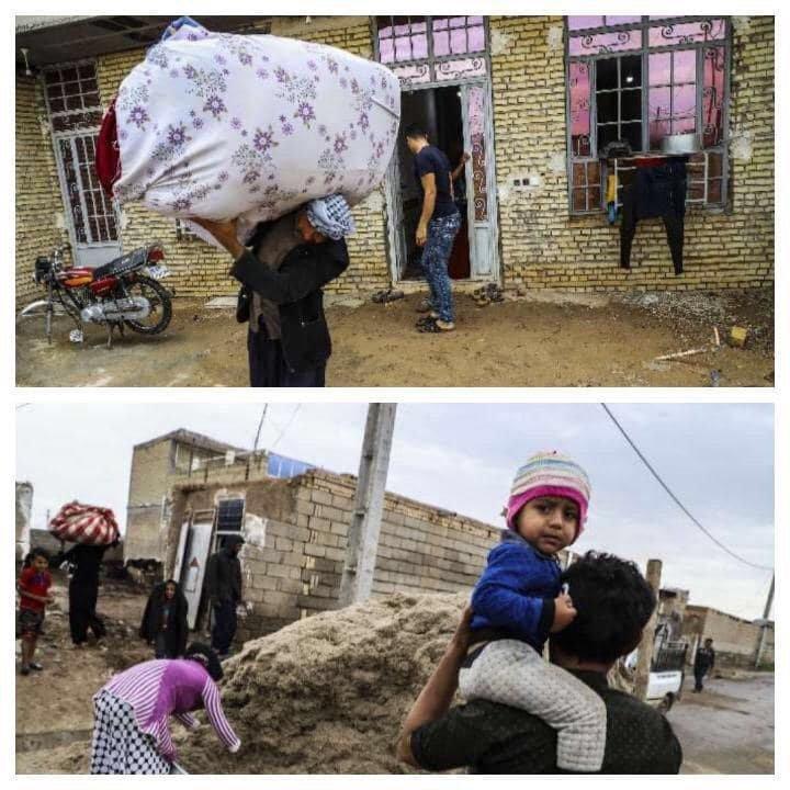 تخلیه روستاهای محاصره شده از سیلاب دز در بخش شعیبیه