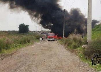 انفجار خط سراسری انتقال بنزین در شوش