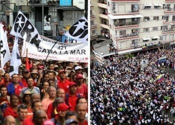 رویارویی هواداران مادورو و گوایدو در پایتخت ونزوئلا