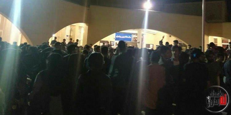 تجمع اعتراضی دانشجویان دانشگاه کاشان
