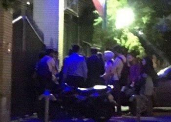 تجمع شبانه دانشجویان دانشگاه تهران در حمایت از یکی از فعالین دانشجویی