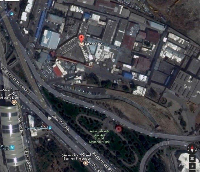 عکس هوایی زندان مرکزی تبریز