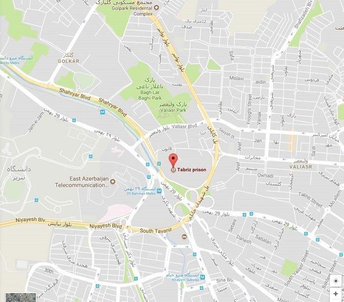 کروکی زندان مرکزی تبریز