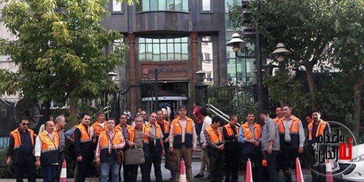 تجمع اعتراضی کارگران عوارض آزادراه قزوین در تهران
