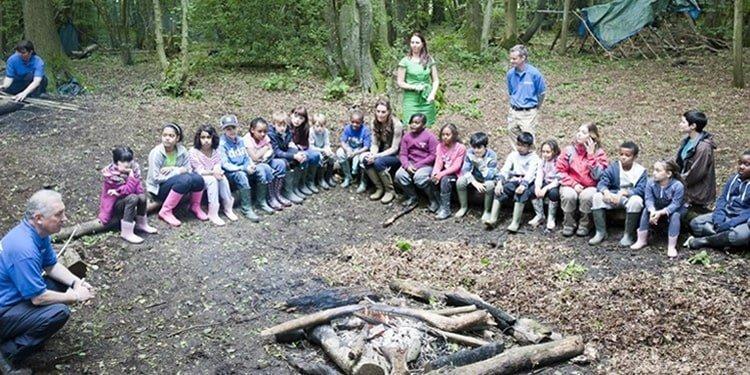 مدرسه جنگلی در بریتانیا