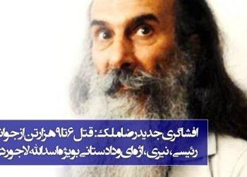 رضا ملک زندانی آزاد شده از زندان اوین