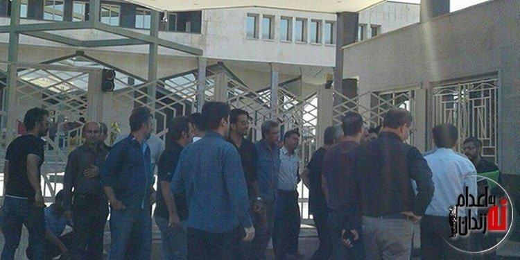 ششمین روز تجمع اعتراضی کارگران کنتورسازی قزوین در مقابل استانداری