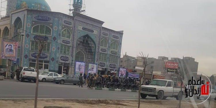 مراسم چهلم شهید علیرضا نوری در محاصره نیروهای امنیتی در شهریار
