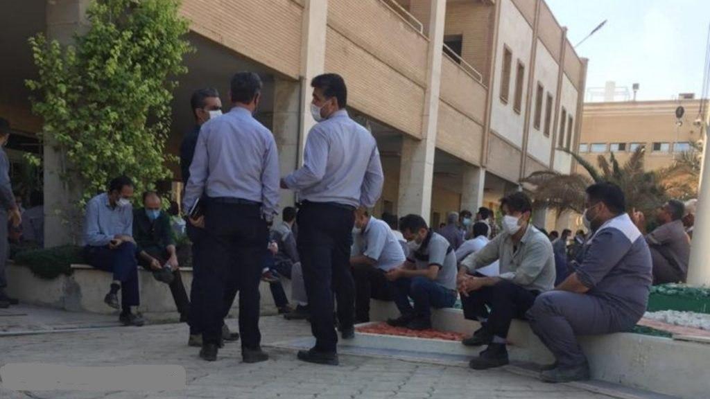 تجمع اعتراضی کارگران پتروشیمی رازی ماهشهر