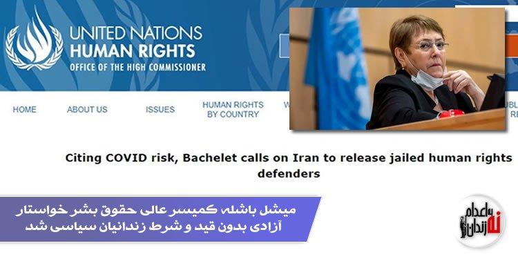 میشل باشله کمیسر عالی حقوق بشر خواستار آزادی بدون قید و شرط زندانیان سیاسی شد