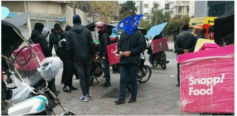 رانندگان اسنپ فود در تهران در اعتراض به پایین بودن کرایه