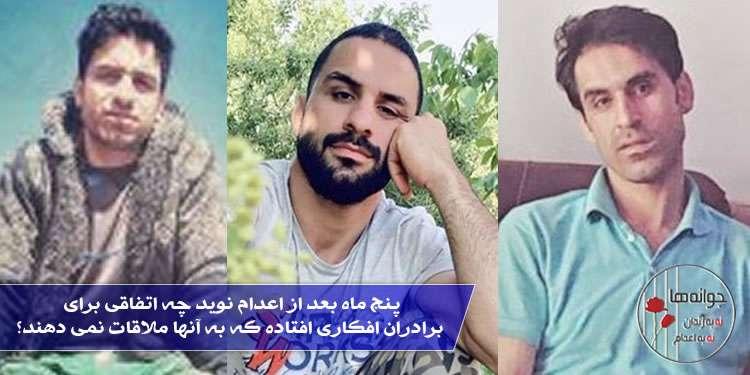 پنج ماه بعد از اعدام نوید چه اتفاقی برای برادران افکاری افتاده که به آنها ملاقات نمی دهند؟