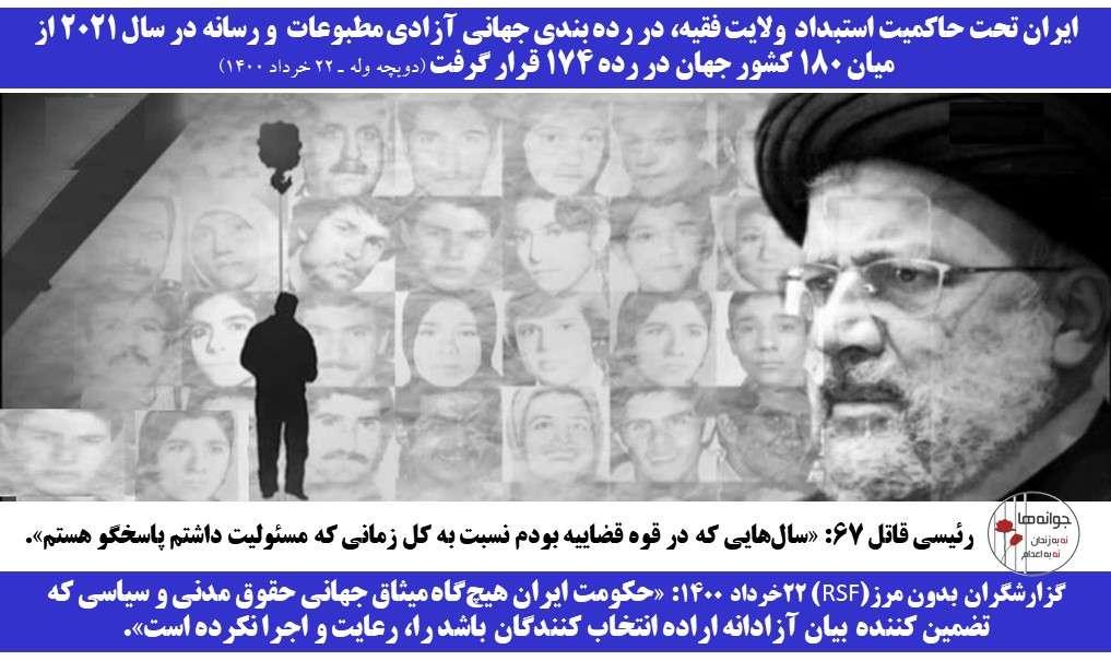 ایران در رده بندی جهانی آزادی رسانه در ربته ۱۷۴